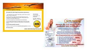Postkarte DIN A6 - Versicherungsbüro Hartung