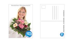 Postkarte DIN A6 - Palmenblau