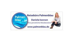 Anzeige 140 x 50 mm - Palmenblau