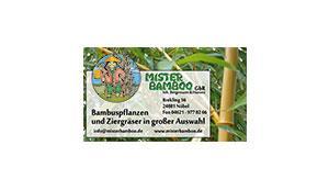 Anzeige 190 x 110 mm - Mister Bamboo