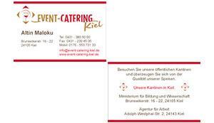 Visitenkarte - Event-Catering Kiel